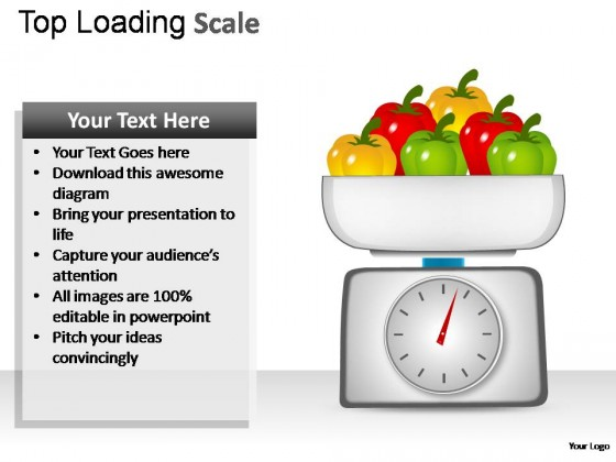 Top Loading Scale PowerPoint Presentation Slides