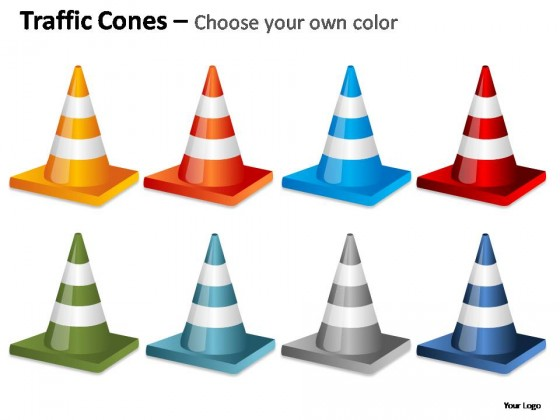 Traffic Cones Fallen PowerPoint Presentation Slides
