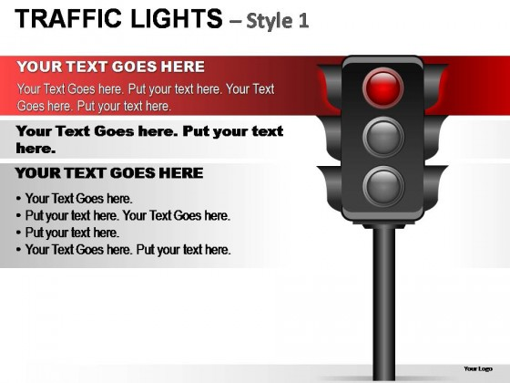 Traffic Lights Style 1 PowerPoint Presentation Slides