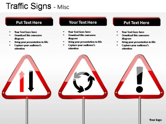 Traffic Signs Misc PowerPoint Presentation Slides