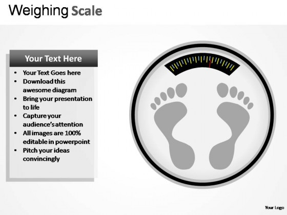 Weighing Scale PowerPoint Presentation Slides
