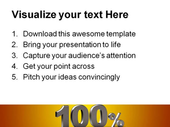 100 Percent Business PowerPoint Backgrounds And Templates 1210