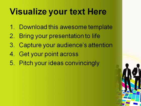 Abstract Mosaic Business PowerPoint Template 1010