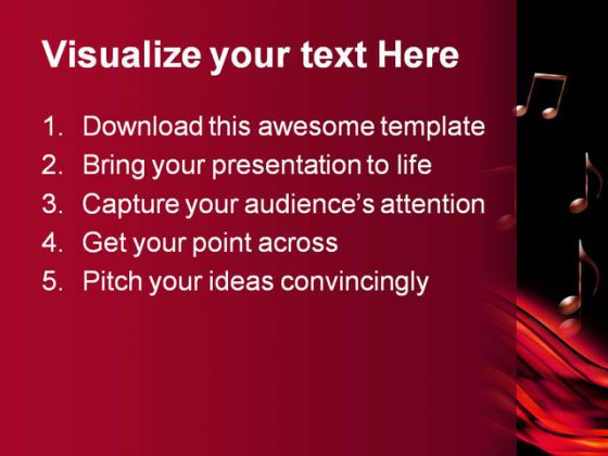 Abstract Music PowerPoint Template 0610