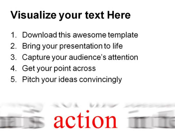 Action Business PowerPoint Background And Template 1210