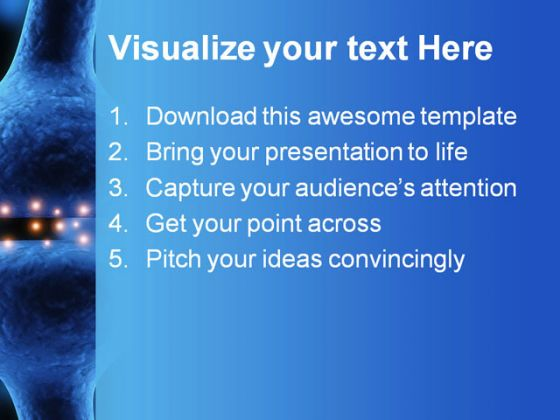 Active Receptor Science PowerPoint Template 0810