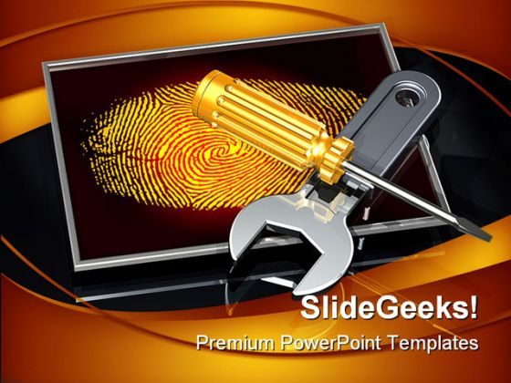 Adjusting Personal Information Computers PowerPoint Backgrounds And Templates 1210