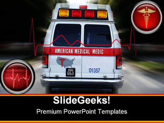 Ambulance Medical PowerPoint Template 0610