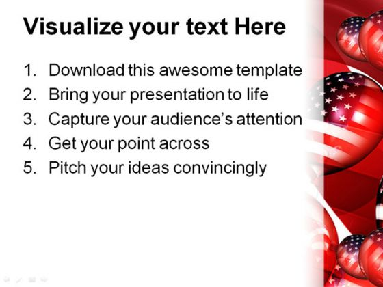 American Balloons01 Festival PowerPoint Template 1010
