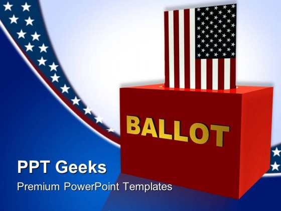 american ballot box government powerpoint templates and powerpoint, Powerpoint templates