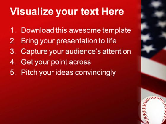 American Baseball Sports PowerPoint Template 1010