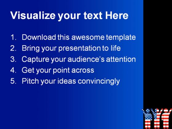 American People PowerPoint Template 1010
