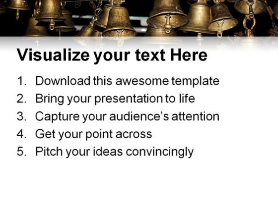 Ancient Bells Religion PowerPoint Template 0610