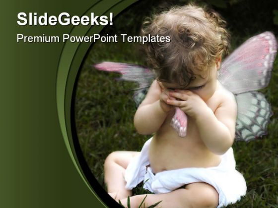 Angel Baby PowerPoint Template 0810