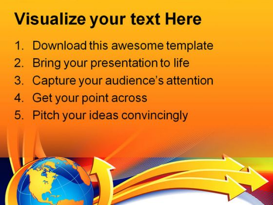 Arrows Symbol PowerPoint Template 0510