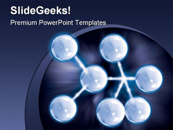 Atom Medical PowerPoint Template 0610