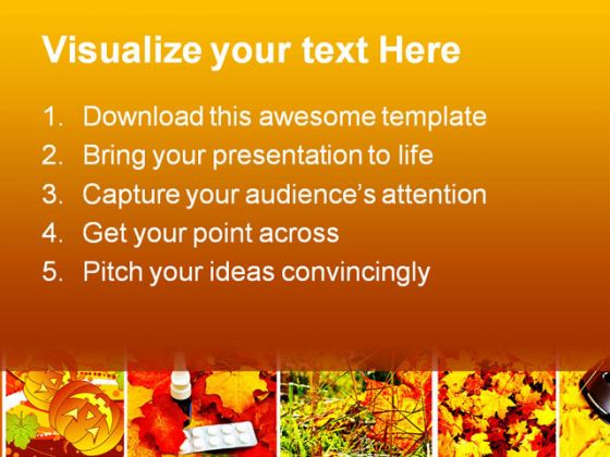 Autumn Collage Nature PowerPoint Template 1010