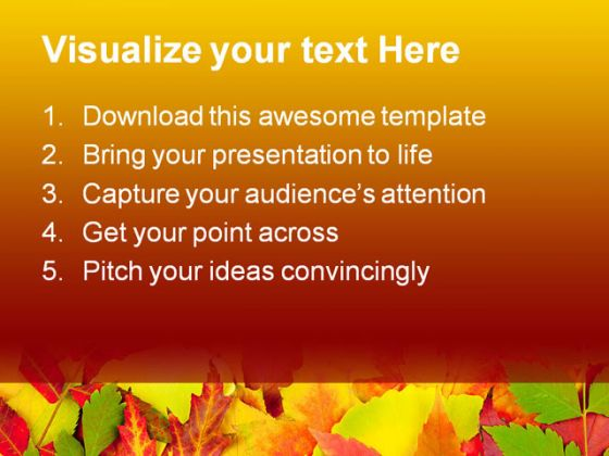 Autumn Frame Beauty PowerPoint Template 1010