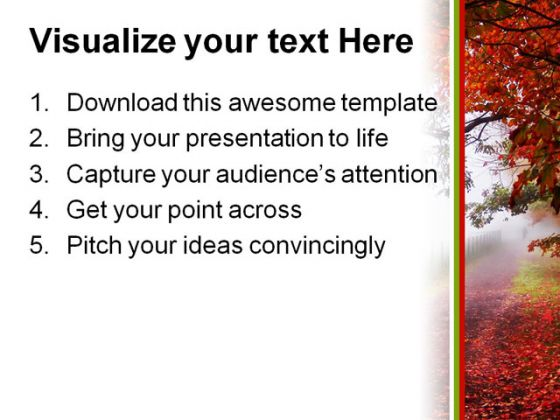 Autumn Nature PowerPoint Template 0510