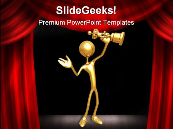 Award Success Entertainment PowerPoint Template 0910
