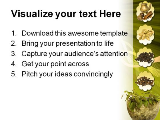 Ayurveda Medical PowerPoint Template 0610