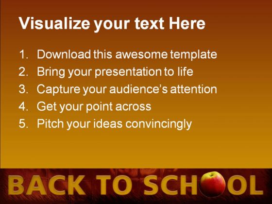 Back To School02 Education PowerPoint Template 0810