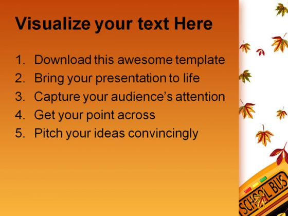 Back To School02 Education PowerPoint Template 1010
