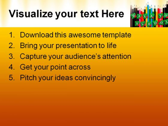 Back To School03 Education PowerPoint Template 1010