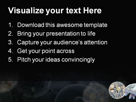 Bacteria Science PowerPoint Template 0610