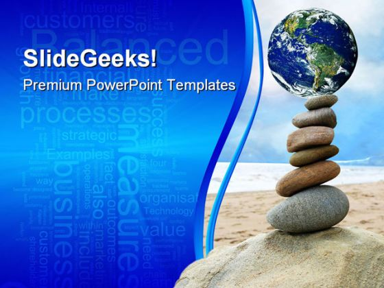 Balanced World PowerPoint Template 0610