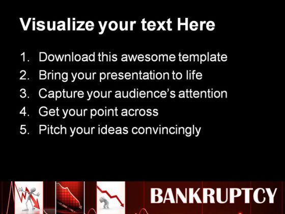 Bankruptcy Finance Business PowerPoint Backgrounds And Templates 1210