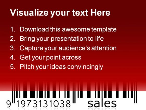 Barcode Sales Graph Business PowerPoint Backgrounds And Templates 1210