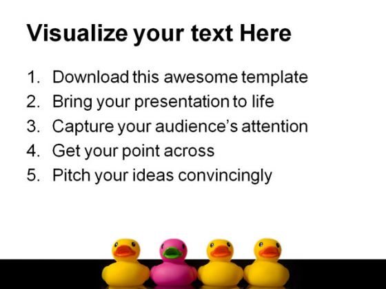Be Different Business PowerPoint Template 1110