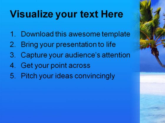 Beach Nature PowerPoint Template 0510