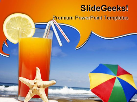 Beach vacation powerpoint template 0810 toneelgroepblik