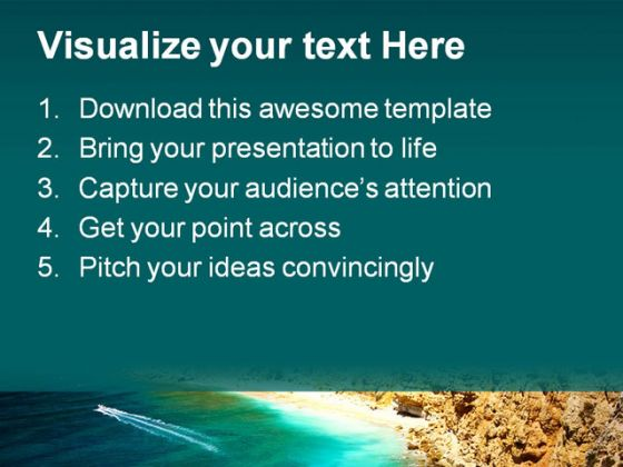 Beautiful Ocean Nature PowerPoint Template 1110