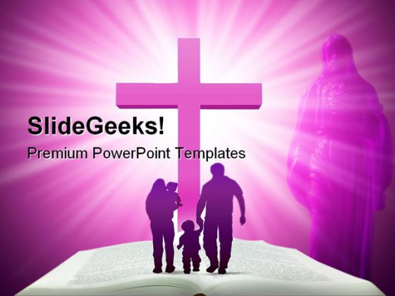 Bible family religion powerpoint template 0610 toneelgroepblik