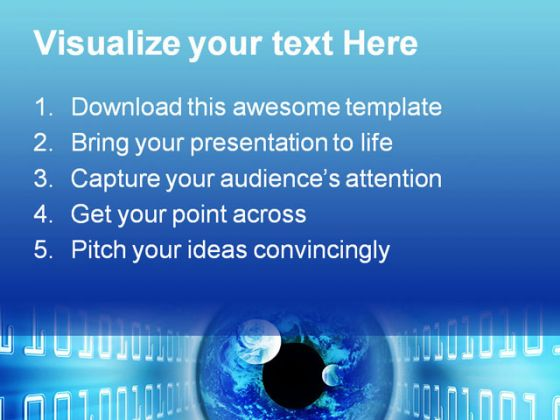 Binary Eye People PowerPoint Template 0810