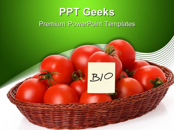 Bio Tomatoes Science PowerPoint Templates And PowerPoint Backgrounds 0411