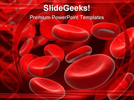 Blood Cells Medical PowerPoint Template 0610