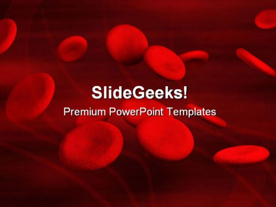 blood cells medical powerpoint template 1110, Modern powerpoint