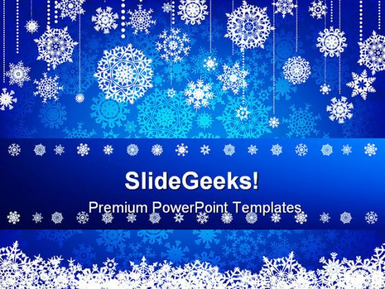 Blue Christmas Abstract Powerpoint Backgrounds And Templates