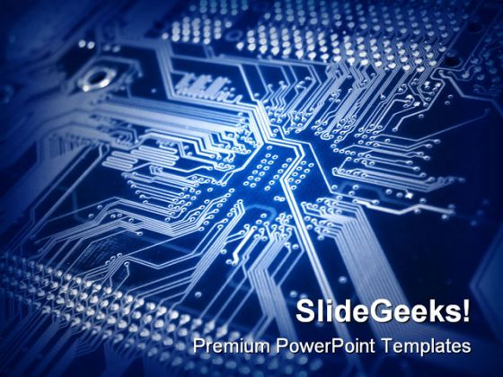Blue Computer Mainboard Internet Template 1010