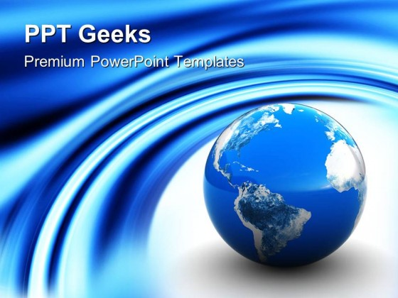 Blue Earth Globe PowerPoint Templates And PowerPoint Backgrounds 0411