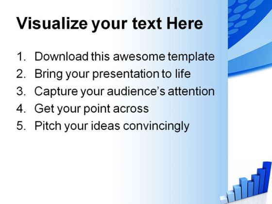 Blue Graph Business PowerPoint Backgrounds And Templates 1210