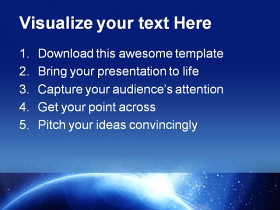 Blue Planet Science PowerPoint Template 1010