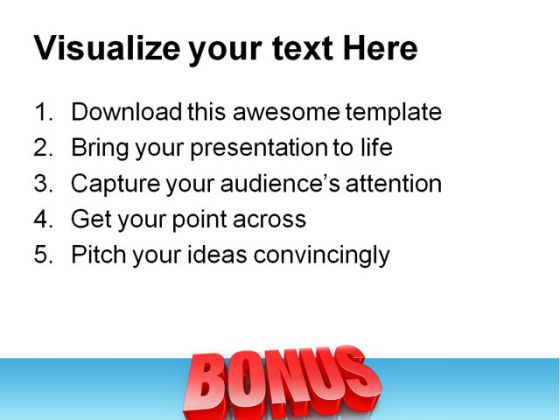 Bonus Business PowerPoint Background And Template 1210