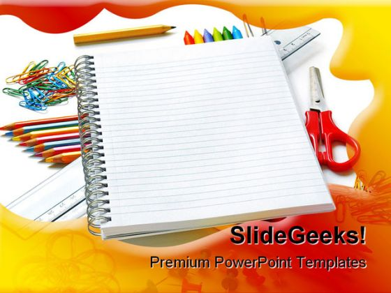 book and colors pencil education powerpoint backgrounds and, Powerpoint templates