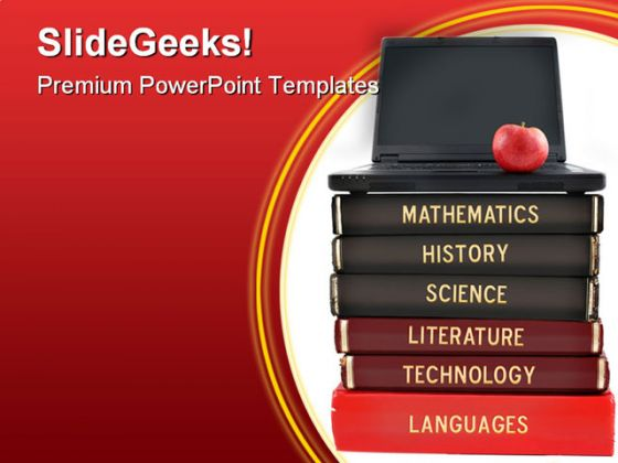 Books01 Education PowerPoint Template 0810