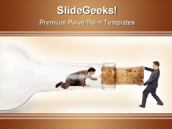 Bottleneck Pulling Business PowerPoint Background And Template 1210